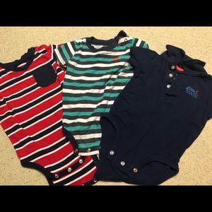 9 month bundle onesies, shorts & pants